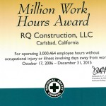 3 Million Work Hours Award