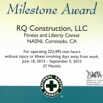 Fitness Center Milestone Award